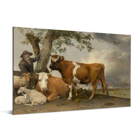 De stier - Schilderij van Paulus Potter Aluminium