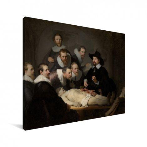 De anatomische les van Dr Nicolaes Tulp - Schilderij van Rembrandt van Rijn Canvas