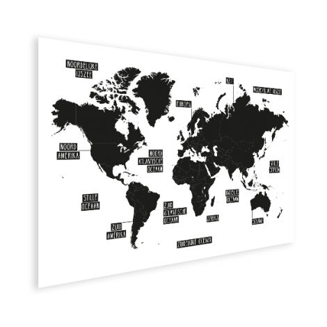 Eenvoudig - zwart wit poster