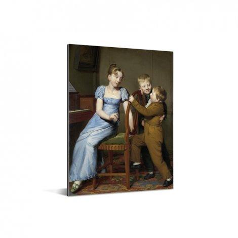 Het gestoorde pianospel - Schilderij van Willem Bartel van der Kooi Aluminium