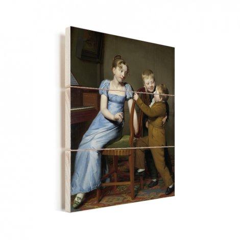 Het gestoorde pianospel - Schilderij van Willem Bartel van der Kooi Vurenhout met planken
