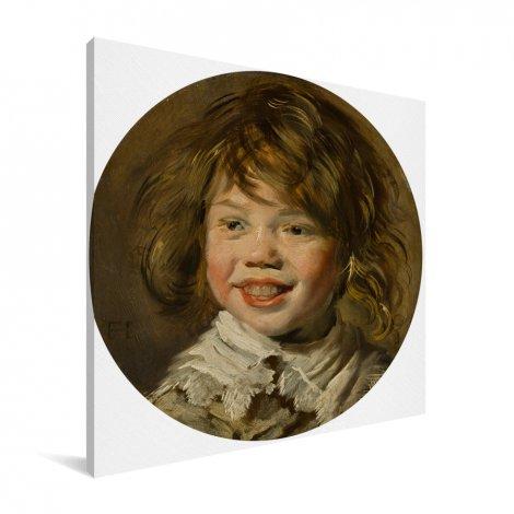 Lachende jongen - Schilderij van Frans Hals Canvas