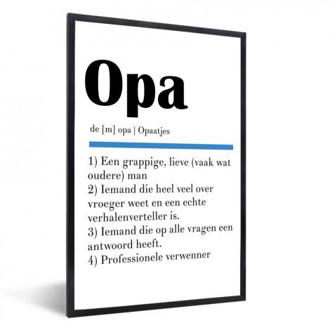 Vaderdag - Definitie Opa Fotolijst