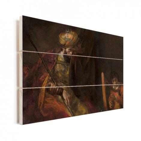 Saul en David - Schilderij van Rembrandt van Rijn Vurenhout met planken