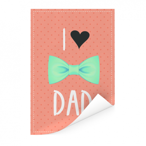 Vaderdag - I love dad met strik Poster