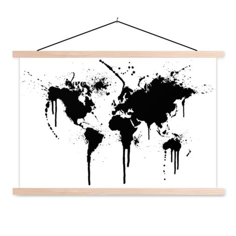 Zwarte inkt textielposter