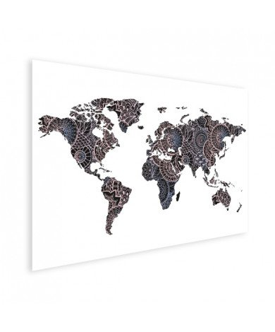 Aziatische print zwart-roze poster