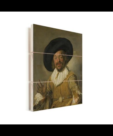 De vrolijke drinker - Schilderij van Frans Hals Vurenhout met planken