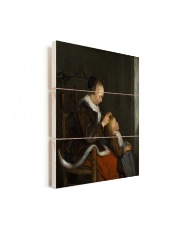 De luizenjacht - Schilderij van Gerard ter Borch Vurenhout met planken
