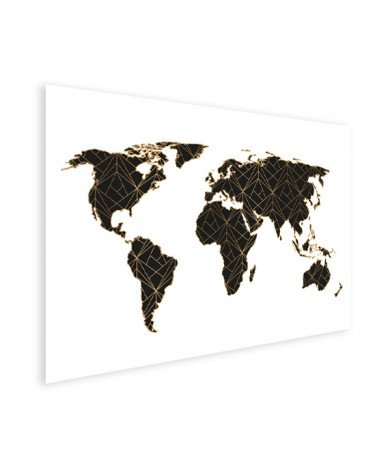 Geometrisch zwart-goud poster