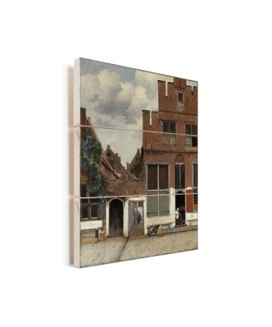 Het straatje - Schilderij van Johannes Vermeer Vurenhout met planken