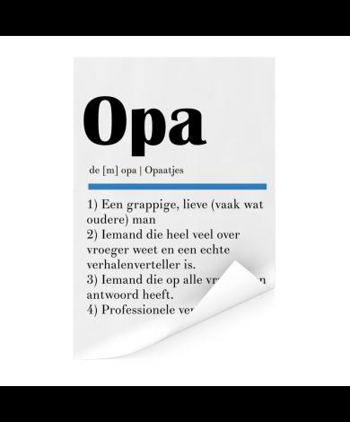 Vaderdag - Definitie Opa Poster
