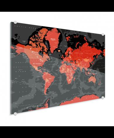 Rood - zwart plexiglas