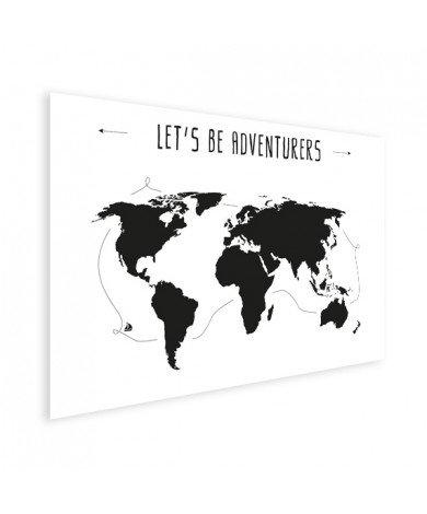 Tekst adventures poster