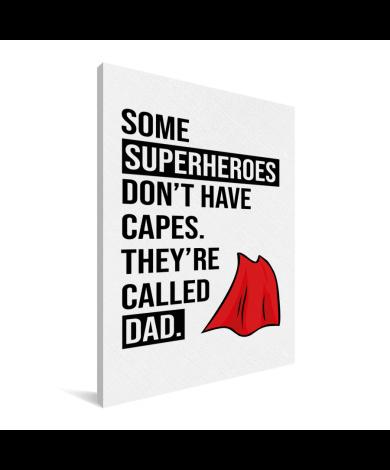 Vaderdag - Superheroes Canvas
