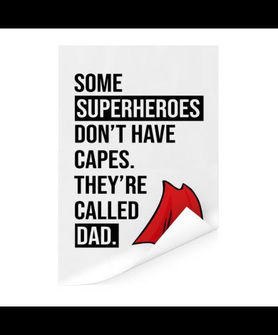 Vaderdag - Superheroes Poster
