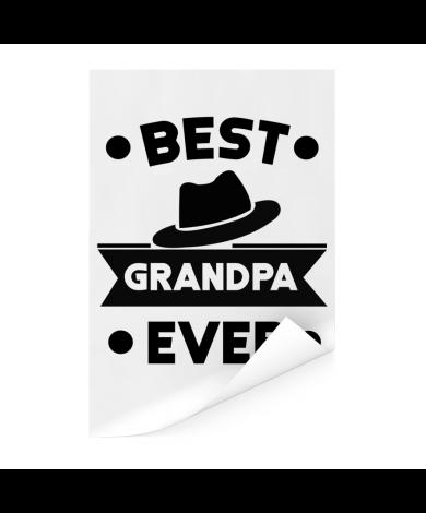 Vaderdag - Best grandpa ever Poster