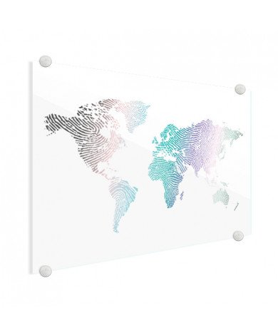 Vingerafdruk - kleur plexiglas