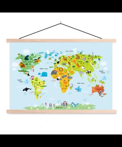 Ons dierenrijk - baby textielposter