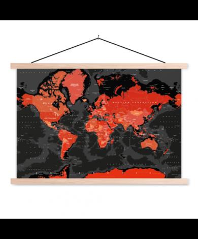Rood-zwart textielposter