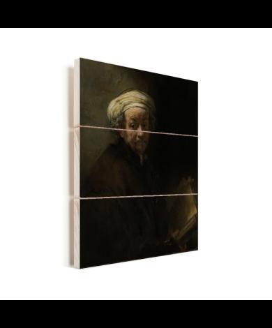 Zelfportret als de apostel Paulus - Schilderij van Rembrandt van Rijn Vurenhout met planken