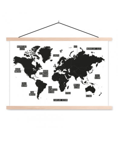 Eenvoudig zwart-wit textielposter