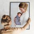 fotolijst met canvas print ophangen
