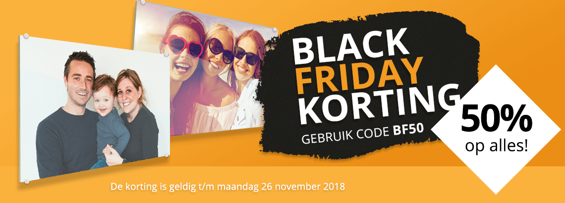 Foto op glas Black Friday