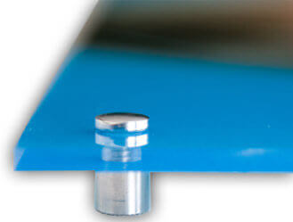 Logo op 3mm dik glas geprint