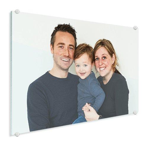 Foto op glas jong gezin