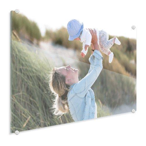 Foto op glas vrouw met baby