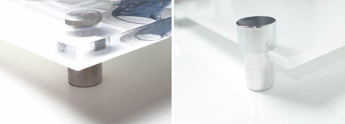 ophangysteem foto op glas