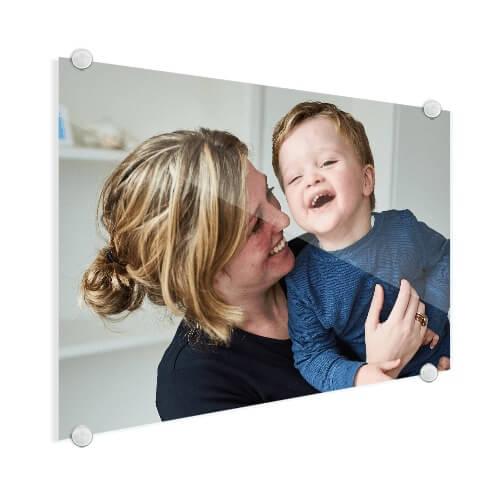 Foto op glas moeder en kind