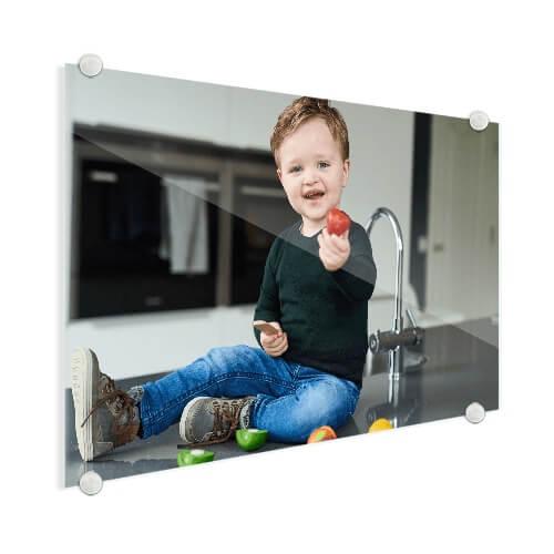 Babyfoto op glas