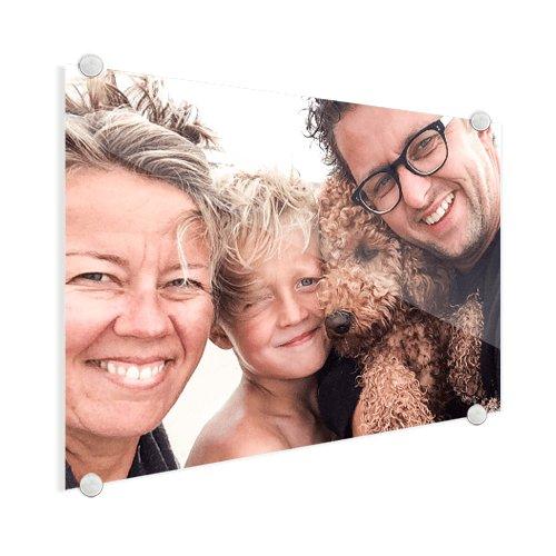 Foto op glas met gezin