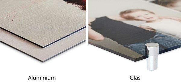 Plexiglas of aluminium