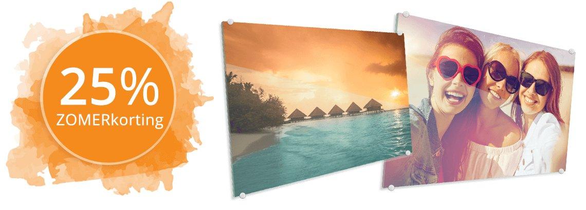 Foto op glas zomerkorting