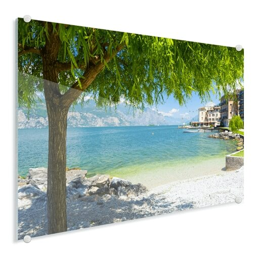 Foto op glas strand zomer
